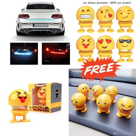 Smiley Spring doll free with Luminated Car Strip light