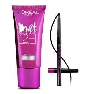 Image of L'Oreal Paris Mat Magique 12H Bright Mat Foundation - G1 + Free Kajal Magique - Shopeleo