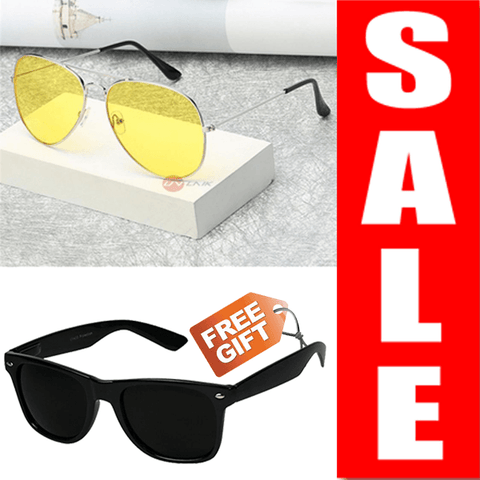 Image of BUY NIGHT VISION SUNGLASS AND GET OTHER SUNGLASS FREE - Shopeleo