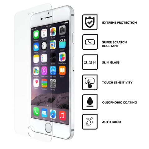 Image of 9H tempered glass For iphone X 8 4s 5 5s 5c SE 6 6s plus 7 plus - Shopeleo