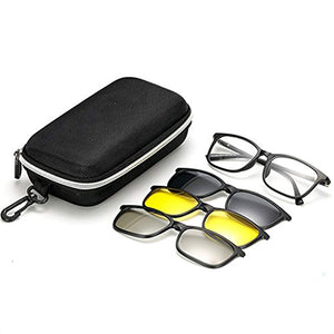 Polarized 3 IN 1 Magnetic Clip On Sunglasses Plus Spectacle Frame (Polarized, Mercury &  Night Drive)