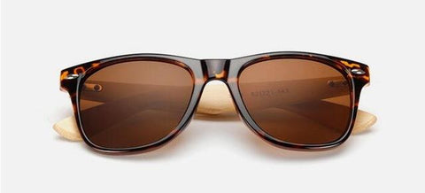 Retro Wood Sunglasses - Shopeleo