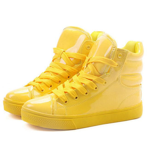 Image of New Arrival Lighted Candy Color High-top Shoes - Shopeleo