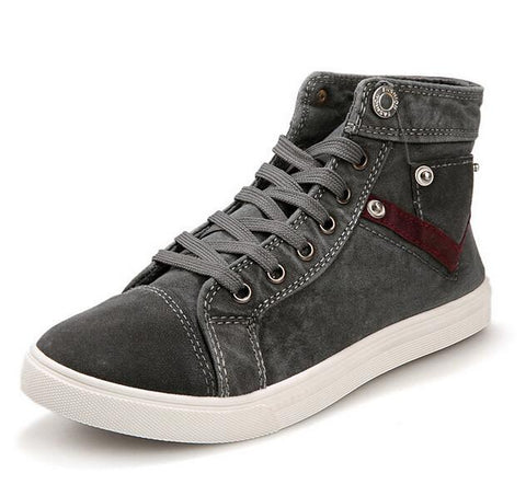 New Spring Men Canvas Shoes - Shopeleo