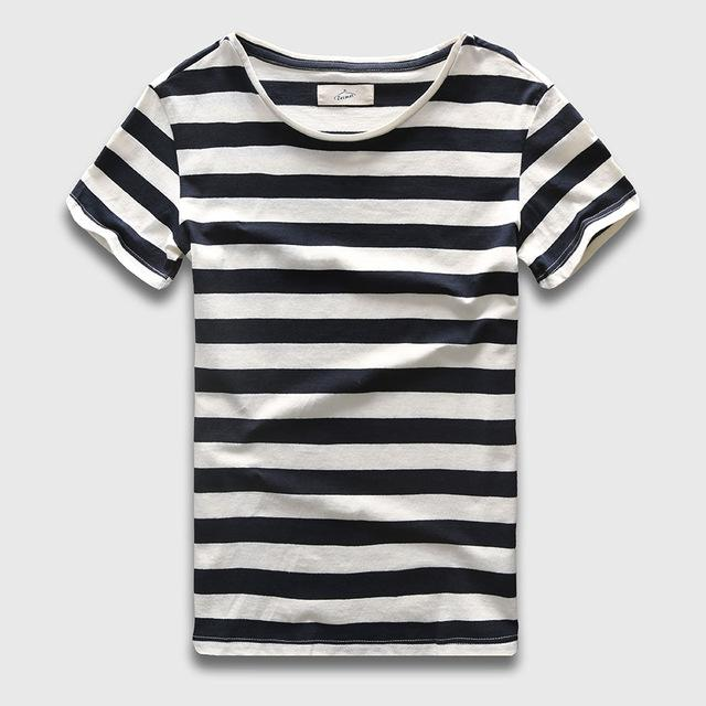 Zecmos New Men Stripe T-Shirt - Shopeleo