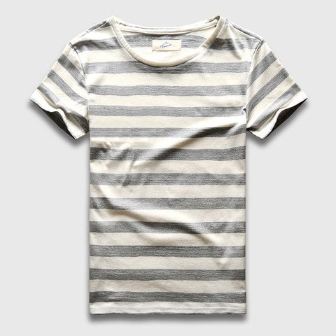 Image of Zecmos New Men Stripe T-Shirt - Shopeleo