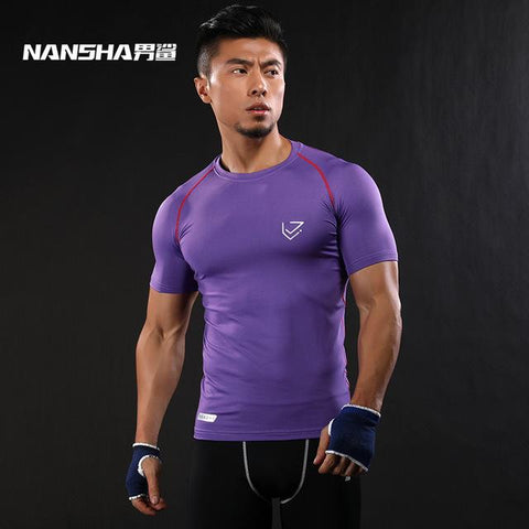 Image of Solid Color Quick Dry  Crossfit Lycra T-Shirt - Shopeleo