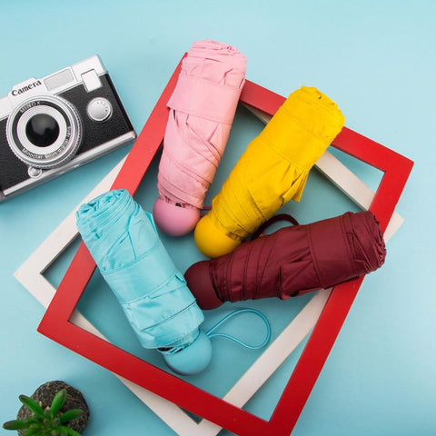 Image of Mini Pocket Windproof Folding Umbrella - Shopeleo
