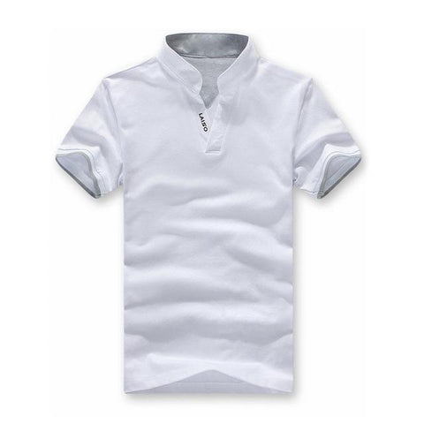 Image of V-Neck Slim Fit Short Sleeve T Shirt - Shopeleo