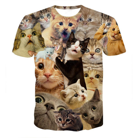 Kitty Cat T-Shirts - Shopeleo