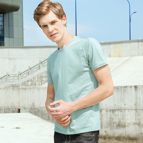 Image of Top quality bamboo cotton stretch Tshirt - Shopeleo