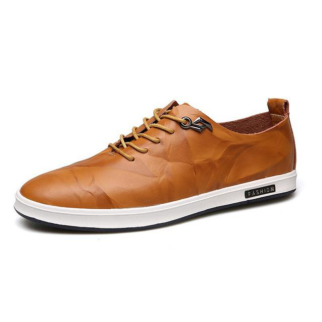 Gaorui Mens Genuine Leather Shoes - Shopeleo