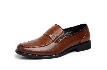 Mens Fashion soft leather business shoes c - Shopeleo