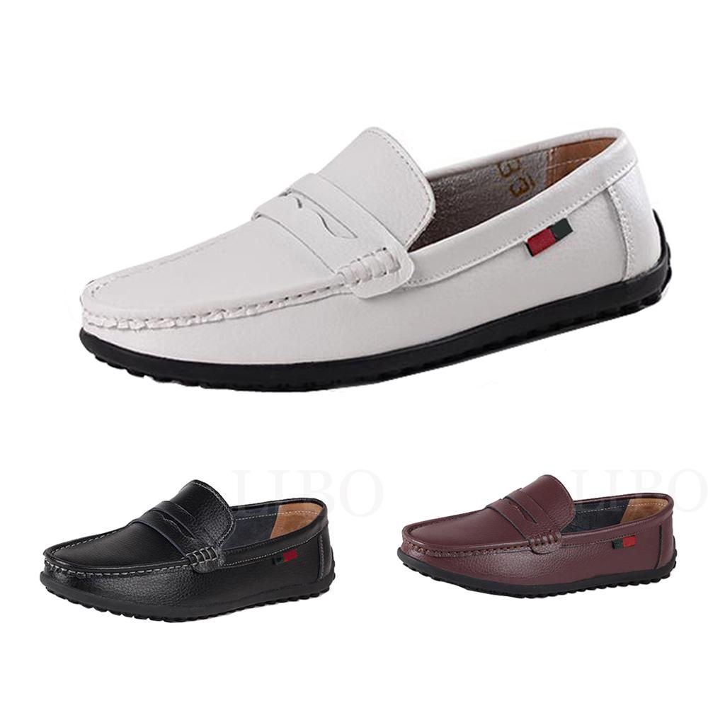 Pachwork slip-on casual leather shoes - Shopeleo