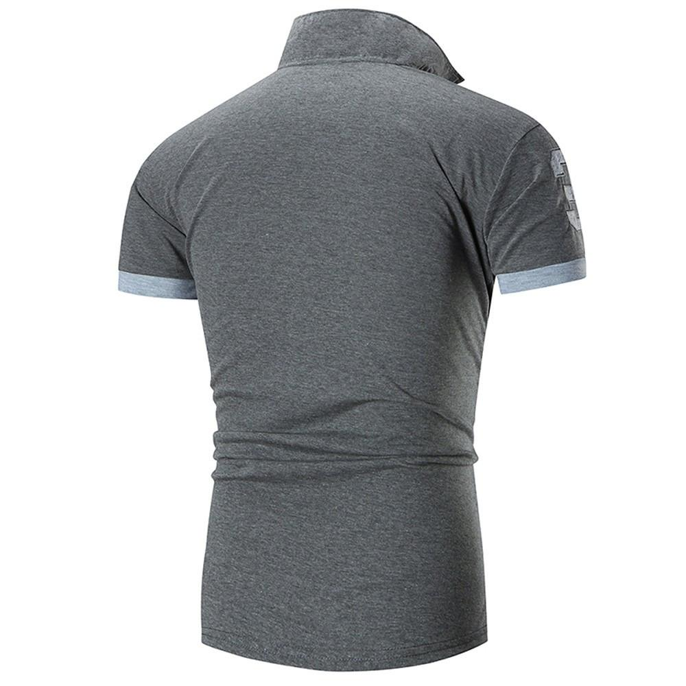 Fashion Business Men's Casual Slim Short T Shirt - Shopeleo