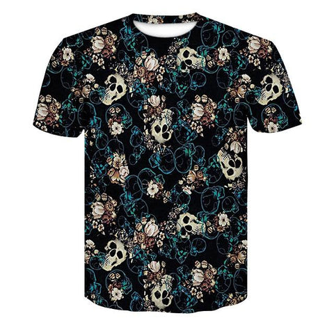Image of Skull 3D T Shirt - Shopeleo