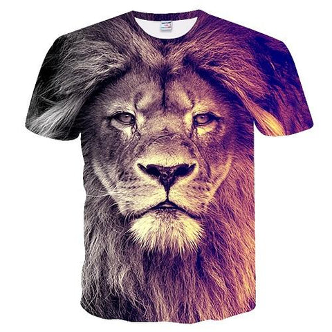 Image of 3d lion Print Designed Stylish Summer T shirt - Shopeleo