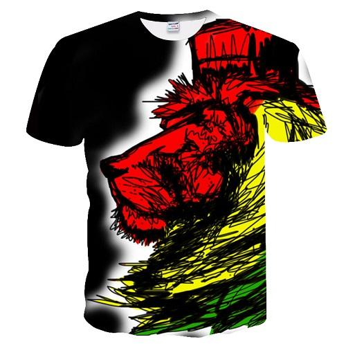 3d lion Print Designed Stylish Summer T shirt - Shopeleo