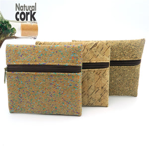 Natural cork handmade coin purse