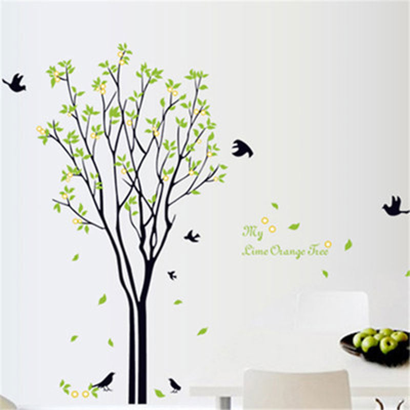 Leafy tree wall sticker