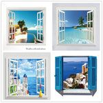 Beach Sea Window Scenery Wall Sticker