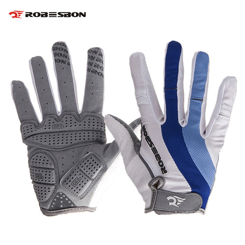 ROBESBON Men Warm MTB Bicicletas Ciclismo Guantes Full Finger Bike Outdoors Sports Luvas Winter Autumn Bicycle Cycling Gloves