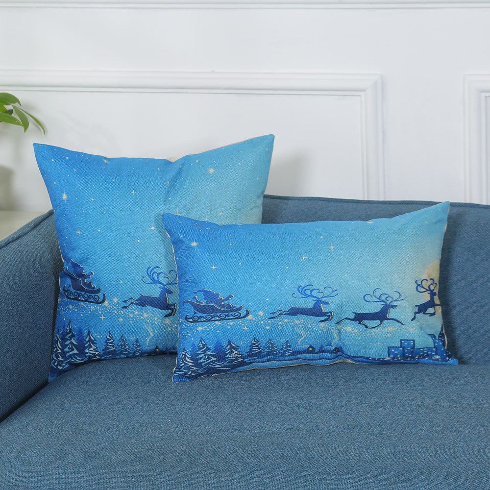 Print Pillowcase Linen Cotton Sofa Cushion Cover
