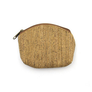 Natural cork handmade coin purse women small