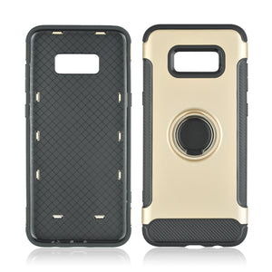 Hard PC Phone Cover 360 Rotate Ring Holder Phone Back Case Shockproof for Samsung Galaxy S8 Plus