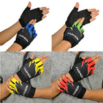 High Quality Outdoor Sports Bicycle Cycling Biking Hiking Gel Half Finger Fingerless Stairs Cloth Gloves Dropshipping