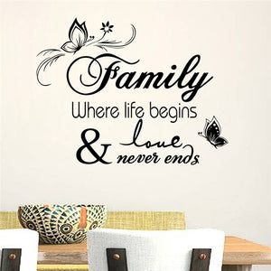Family Quotes Wall Stickers Urbanyogico