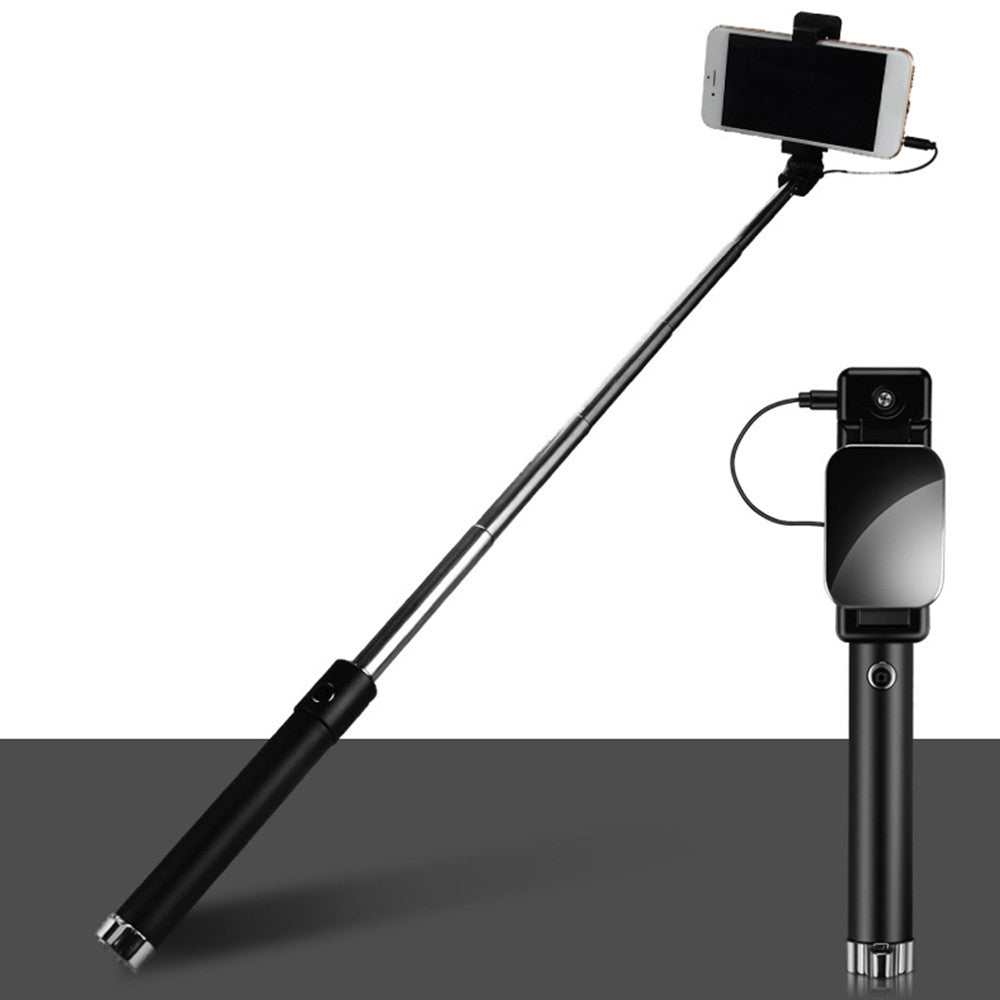 Wired Selfie Stick Handheld Selfie Stick Creative for Smartphone Stand Selfie Rod Selfie Stick Foldable ABS Phone Mount Travel