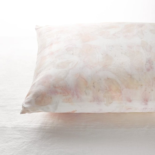 Silk Pillow Case- Eucalyptus / Carnation / Rose