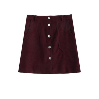 Des Burgundy Skirt