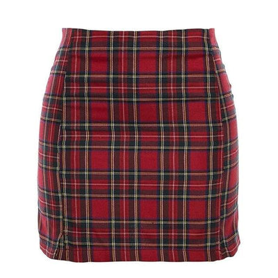 Plaid Slim Skirt