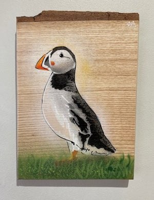 bird stencil art buy puffin picture
