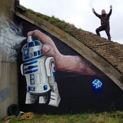 R2 D2 Street Art Graffiti by Syd