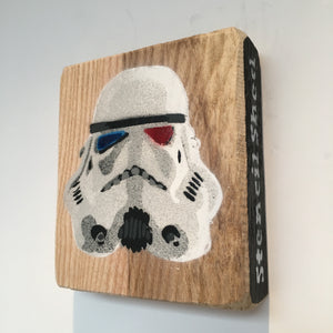 storm trooper helmet painting picture 3d glasses stencil graffiti