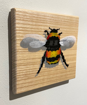 bee picture honey painting art