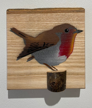 robin, bird, picture, art, stencil wood