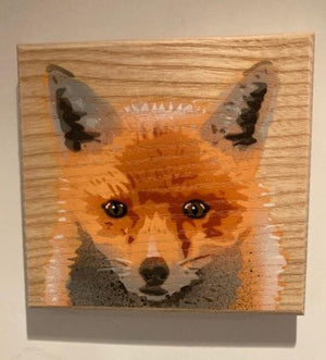fox art painting picture hunting countryside