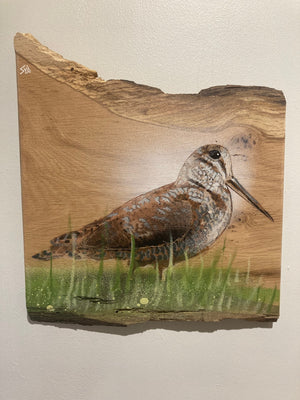 Woodcock signed No. 1 of the edition - Unique piece of Oak wood - New for 2020