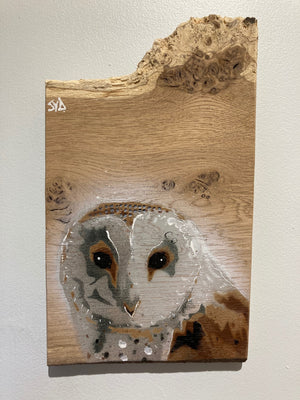 Barn Owl - Oak - freshly handmade November 2020 - Signed Limited edition - size 18 x 30cm