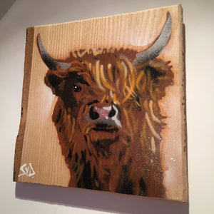 highland cow gift portrait