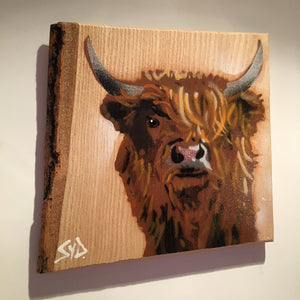 highland cow scotland artwork