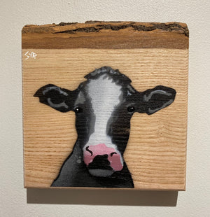 cow artwork stencil painting farming art countryside