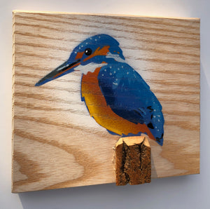 kingfisher painting handmade