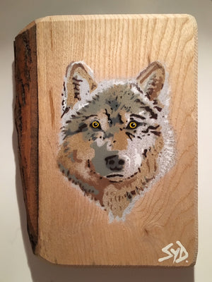 wolf art stencil portrait graffiti