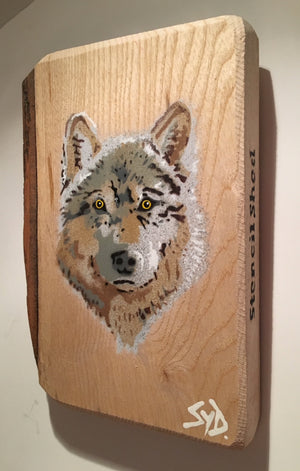 wolf painting art stencil
