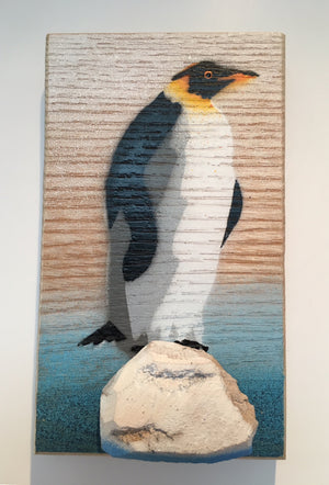 king penguin picture art stencil